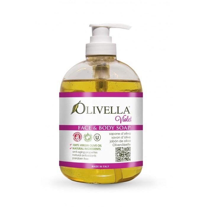 Săpun lichid violet 500 ml - OLIVELLA 0
