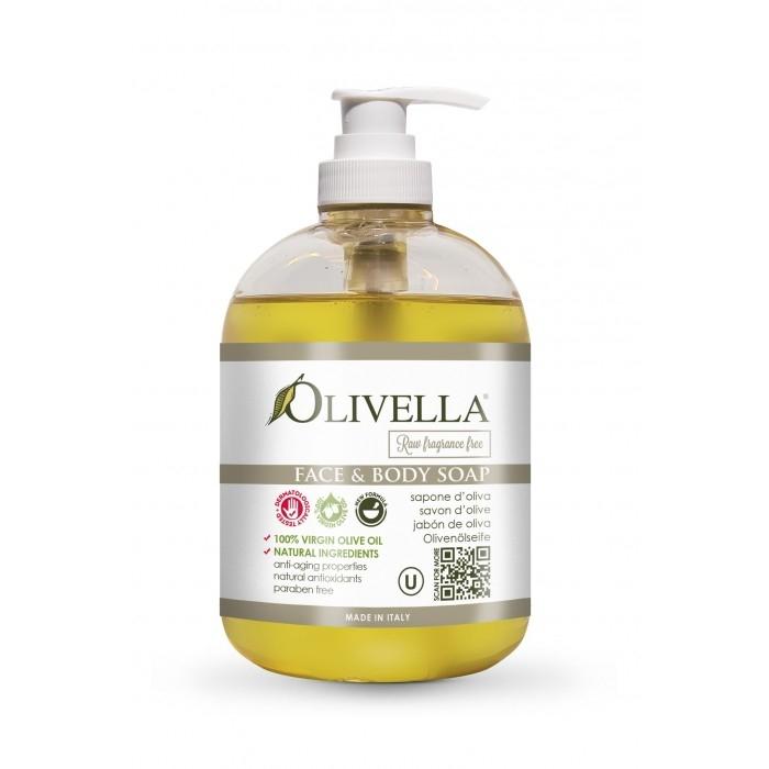 Săpun lichid clasic fără aromă 500 ml - OLIVELLA [0]