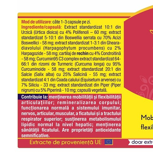 Artro Curcumin 95 30 cps Herbagetica [1]
