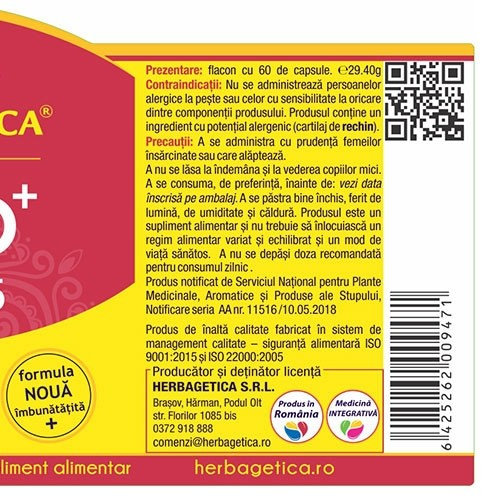 Artro Curcumin 95 30 cps Herbagetica [2]