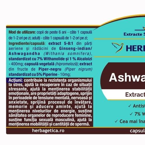 Ashwagandha 60 cps Herbagetica 1