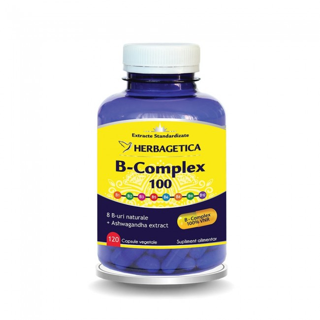 B Complex 100 120 cps Herbagetica 0