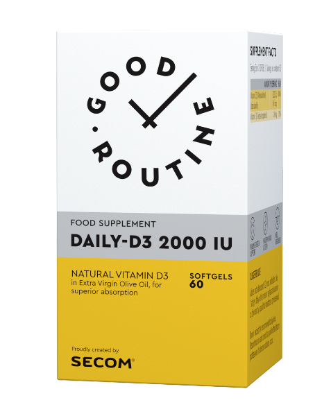 Daily D3 2000 IU 60 cps Good Routine Secom 0