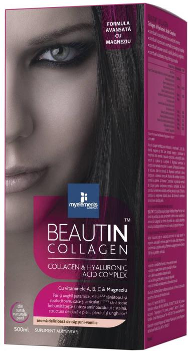 Beautin Colagen Lichid cu Mango Pepene Galben + Magneziu 500 ml Myelements [0]