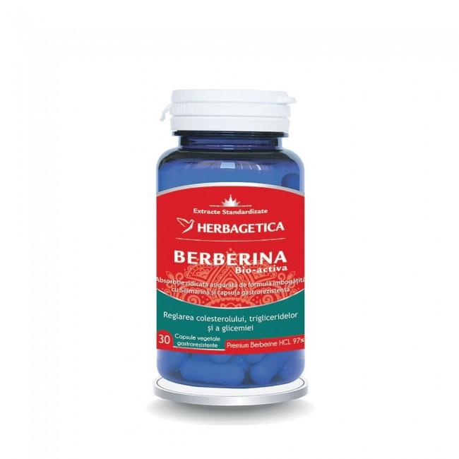 Berberina Bio-activa 30 cps Herbagetica 0
