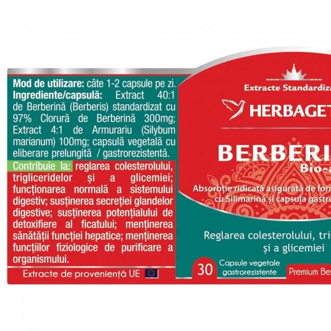Berberina Bio-activa 30 cps Herbagetica 1