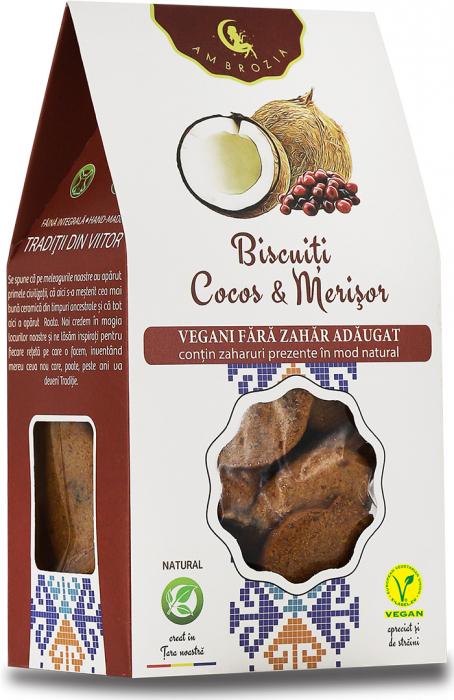 Biscuiti Vegani Cocos si Merisor x 150 g HiperAmbrozia [0]