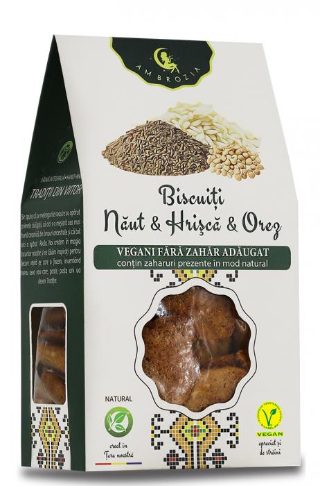 Biscuiti Naut, Hrisca si Orez x 150 g HiperAmbrozia [0]