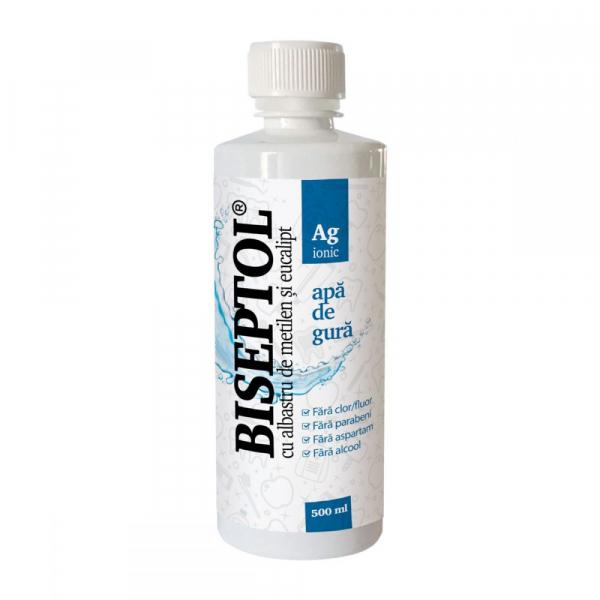 BiSeptol Apa de Gura cu Albastru de Metilen si Eucalipt 480 ml Dacia Plant [0]