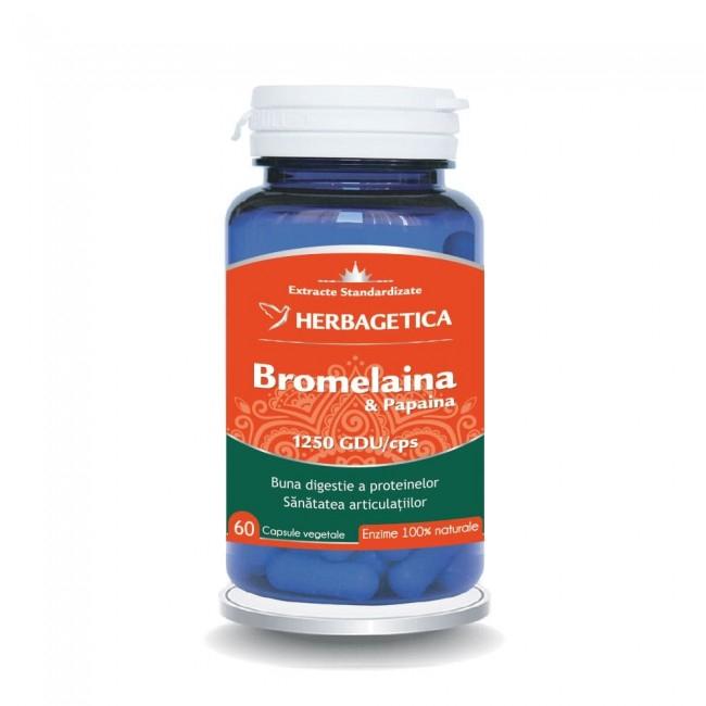 Bromelaina & Papaina 60 cps Herbagetica 0
