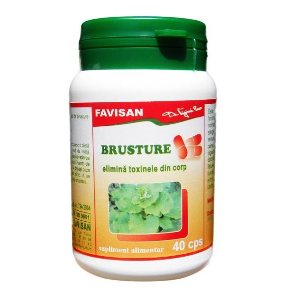 Brusture (elimina toxinele din corp) x 40cps Favisan 0