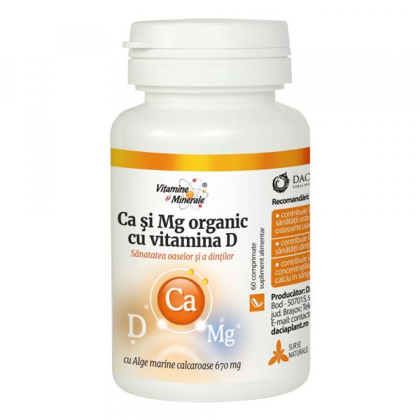 Calciu si Magneziu Organic cu Vit. D x 60cpr - VITAMINE SI MINERALE Dacia Plant 0
