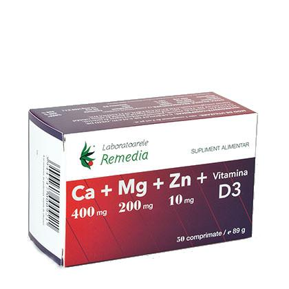 Ca+Mg+Zn+D3 50 cpr Remedia 0