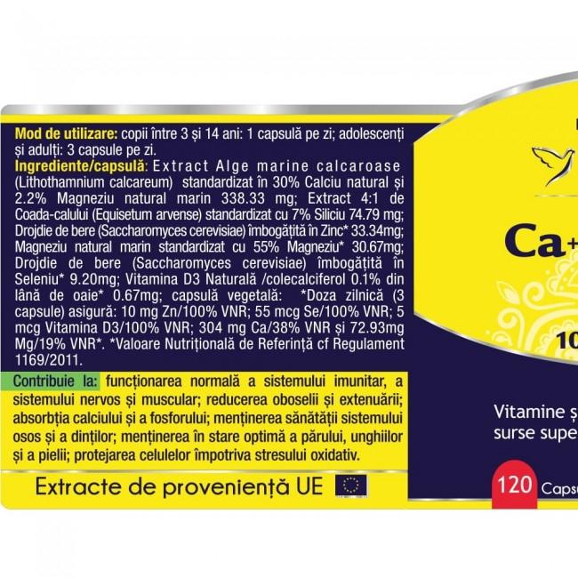 Ca+Mg+Se+Si+Zn cu Vit D3 Complex Forte 60 cps Herbagetica 2