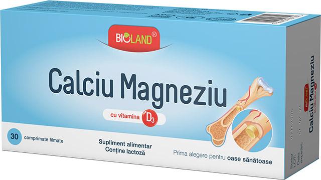 Calciu + Magneziu + D3 30 cpr Biofarm [0]