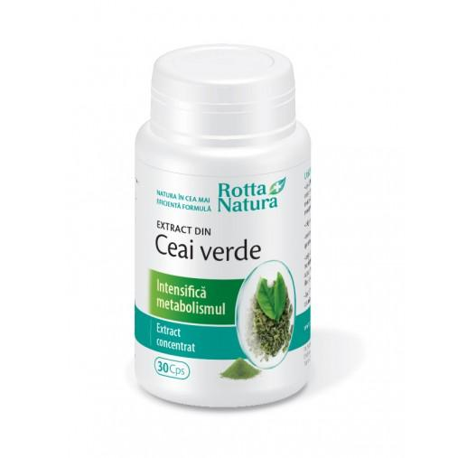 Ceai Verde Extract 30 cps Rotta Natura 0