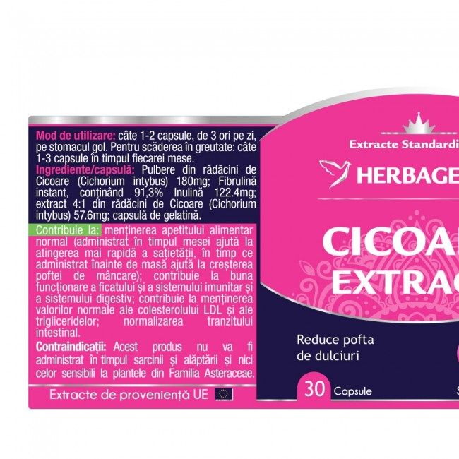 Cicoare Extract 30 cps Herbagetica -10% 1