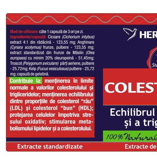 Colesteronat 30 cps Herbagetica [1]