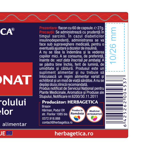Colesteronat 60 cps Herbagetica [2]