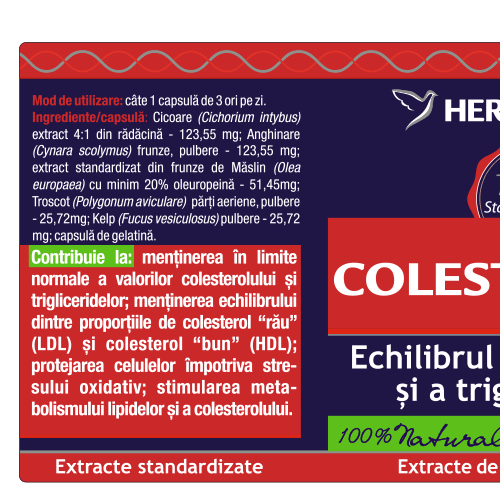 Colesteronat 60 cps Herbagetica [1]