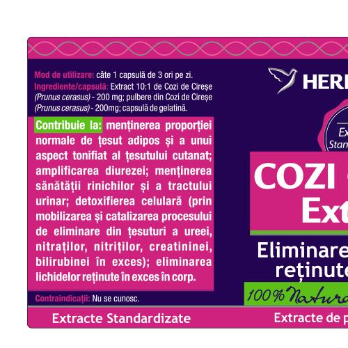 Cozi de Cirese Extract 30 cps Herbagetica [1]