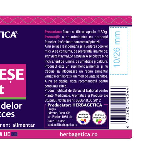 Cozi de Cirese Extract 30 cps Herbagetica [2]