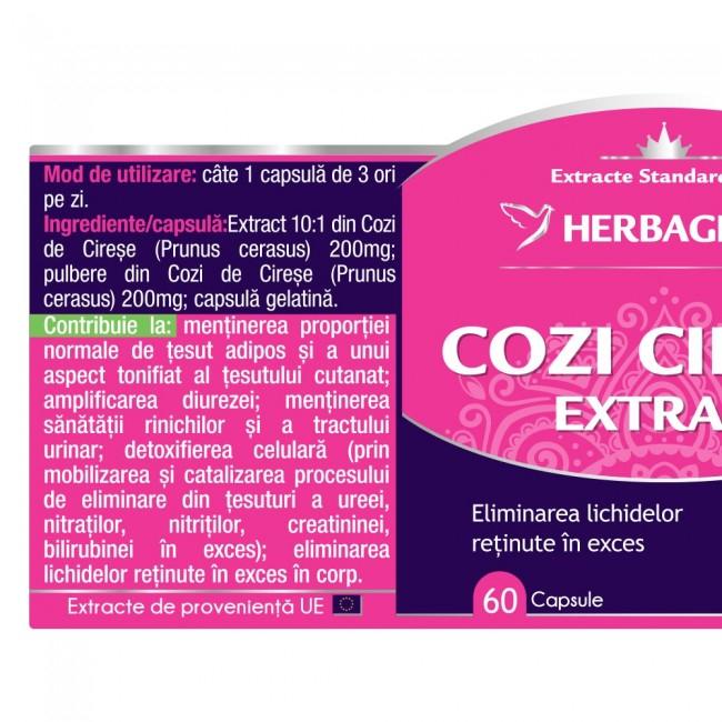 Cozi de Cirese Extract 60 cps Herbagetica [1]