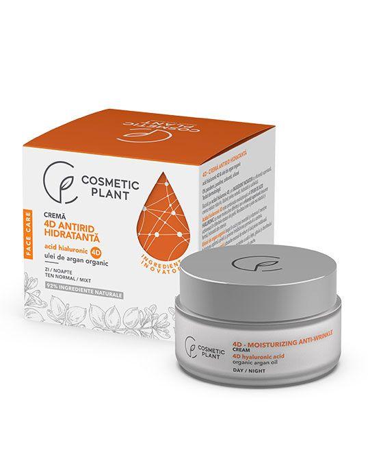 Crema Antirid Hidratanta 4D x 50 ml - FaceCare - Cosmetic Planat 0