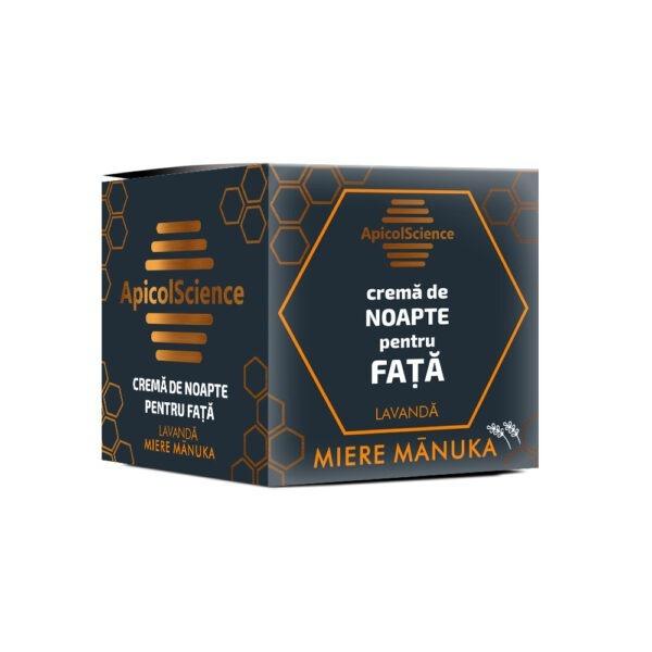 Crema de Noapte pentru Fata cu Miere Manuka si Lavanda  50 ml - ApicolScience - DVR PHARM SRL [0]
