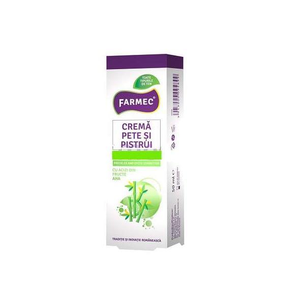Crema Pentru Pete, Pistrui Si Albirea Tenului cu Bambus 50 ml Farmec 0