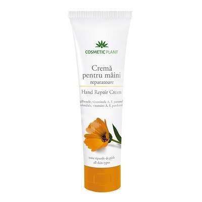 Cremă pentru mâini reparatoare cu extract de gălbenele şi vitaminele A, F, şi pantenol - Cosmetic Plant 0