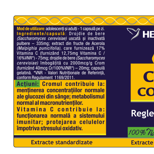 Crom Complex 30 cps Herbagetica [1]