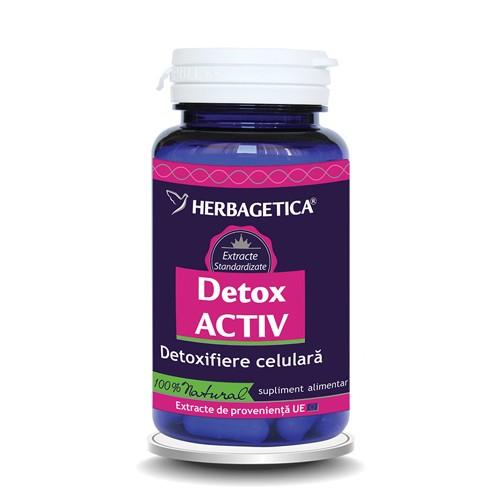 Detox Activ 60 cps #vara Herbagetica 0