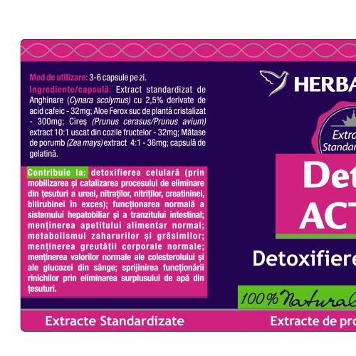 Detox Activ 60 cps #vara Herbagetica 1
