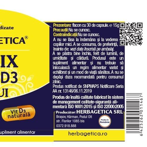 Detrix Vitamina D3 3000 UI 120 cps Herbagetica 1