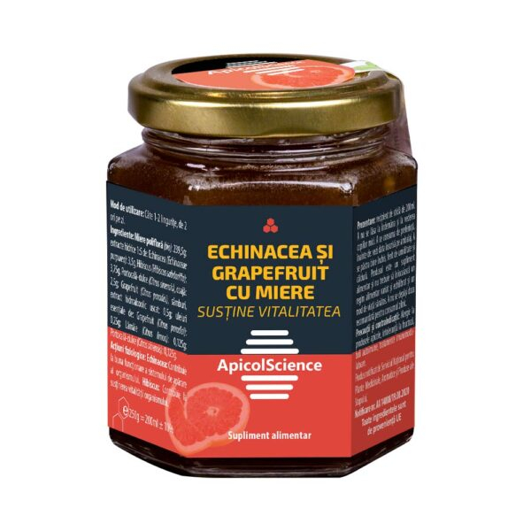 Echinacea si Grapefruit in Miere 200 ml - ApicolScience - DVR PHARM SRL [0]