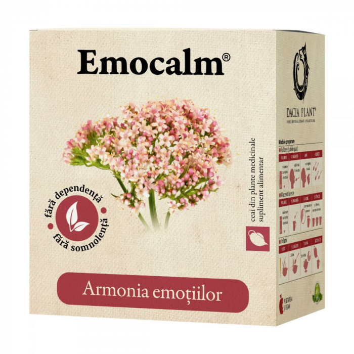 Emocalm Ceai 50 g Dacia Plant 0