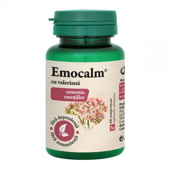 Emocalm cu Valeriana 60 cpr Dacia Plant [0]