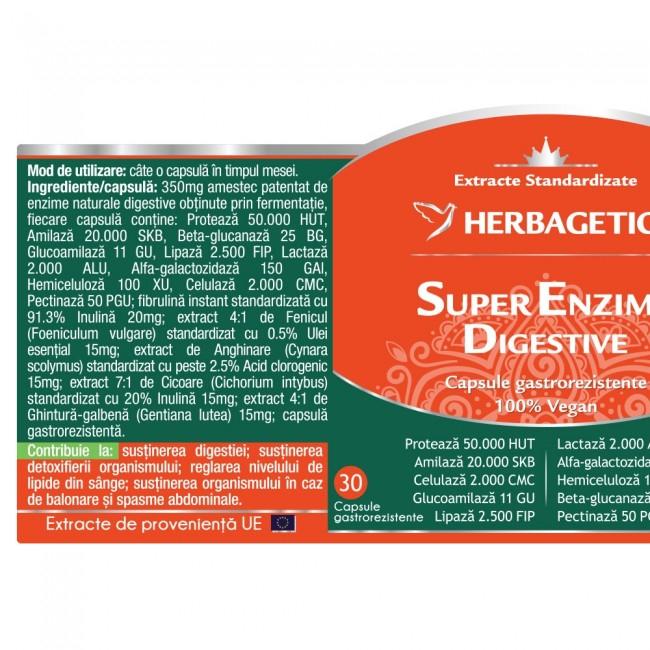 Super Enzime Digestive 30 cps Herbagetica -10% 1