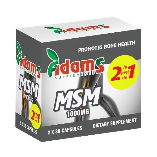MSM  1000 MG 30 cps 1+1 Gratis Adams Vision 0