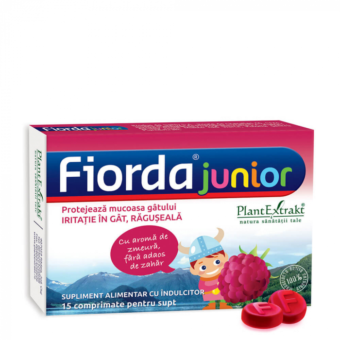 Fiorda Junior Zmeura 15 cpr - Fitoterapice - Plant Extrakt 0