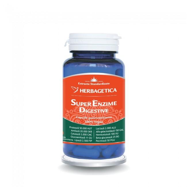 Super Enzime Digestive 60 cps Herbagetica 0