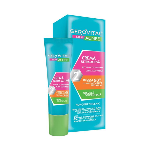 Gerovital Plant Stop Acnee Crema Ultra Activa 15 ml 1