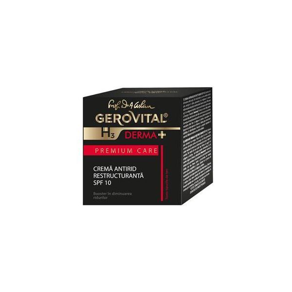 Gerovital H3 Derma+ PC Crema Antirid Restructuranta SPF10 50 ml Farmec [0]