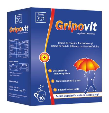 Gripovit 10 plicuri Zdrovit 0
