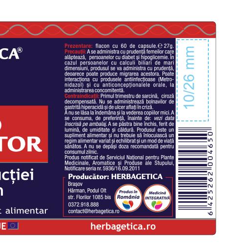 Hepato Regenerator 60 cps Herbagetica [2]