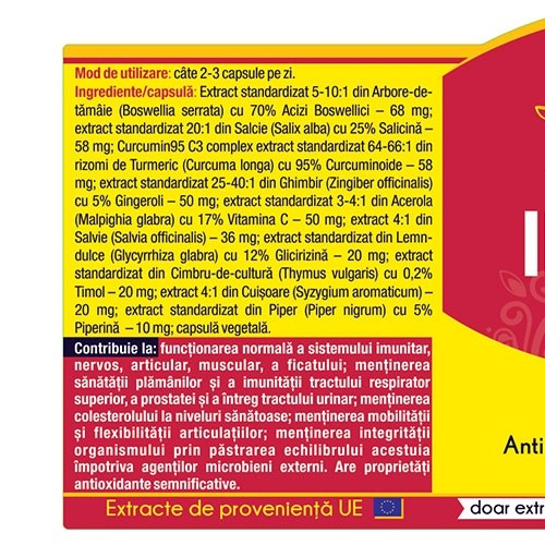 Inflanat Curcumin 95 120 cps Herbagetica 1