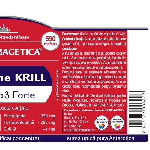 Supreme KRILL Oil Omega 3 60 cps Herbagetica 2