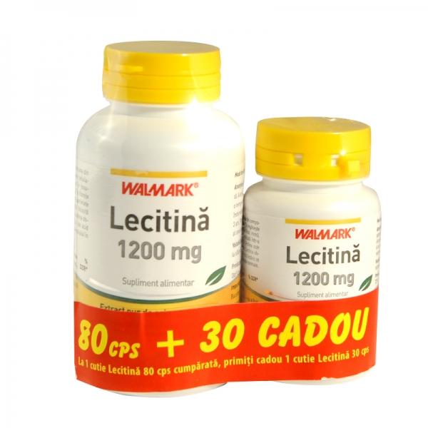 Lecitina 1200 mg 80+30 cps Cadou Walmark [0]