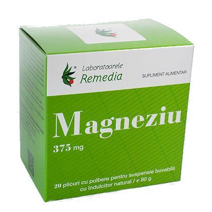 Magneziu 375 Mg 20 plicuri Remedia 0
